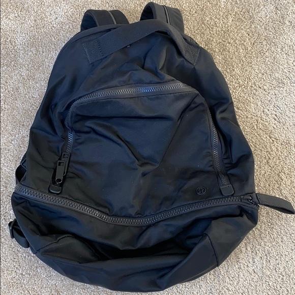 Lululemon Black Nylon Backpack